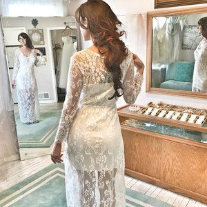 SHEER Dress Overlay for Budiour or Simple Wedding